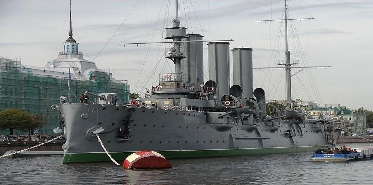 Aurora battleship museum in St. Petersburg, Russia.